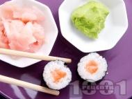 Рецепта Суши Хосо Маки със сьомга